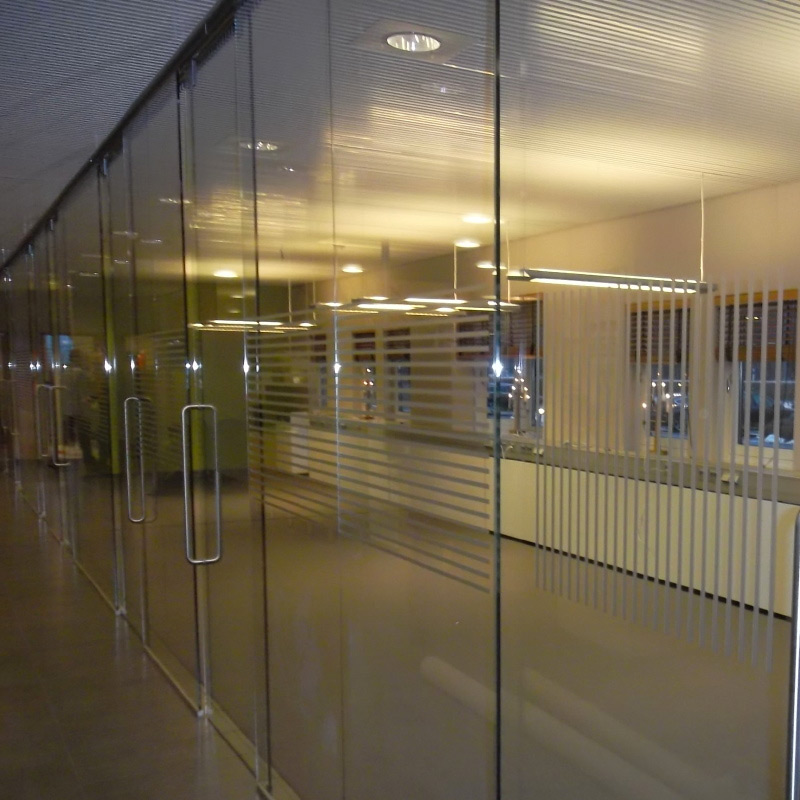 Kontor, fönsterdekor